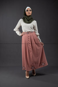 Elegant Embroidery Skirt | Pink Color