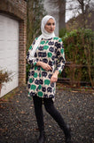 Women Shirt | Autumn and Winter Blend | Green Cats | E-Modesta