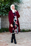 Vintage Long Tunic/Dress with Big Floral Print