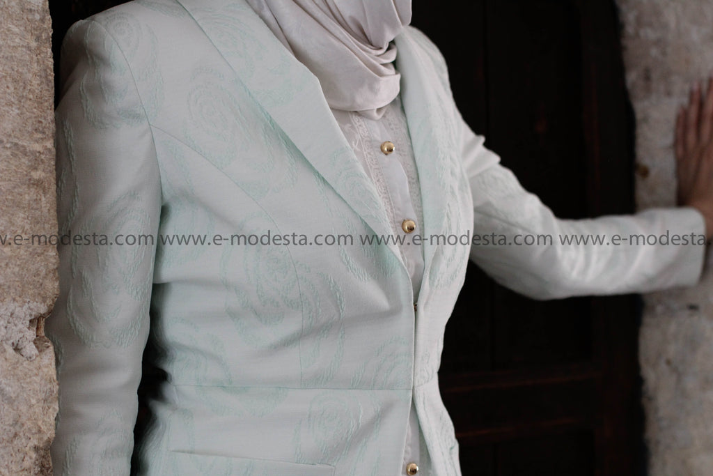 Elegent Light Lime Green Blazer - E-Modesta