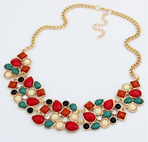 Geometric Fashion Statement Metal Chain Necklace Pendant Collar