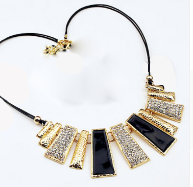 Rectangle Pendant Statement Necklace