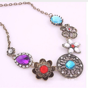 Retro Vintage Multicolored Necklace