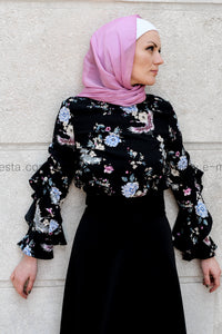 Butterfly-sleeve elegant blouse
