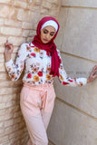 Sweet Floral Summer Shirt - E-Modesta