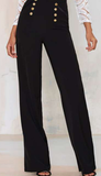 Wide-leg Black Pants