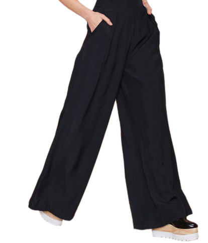 Wide Leg Black Pants - E-Modesta