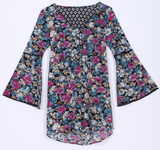 SALE Multicolored Floral Blouse - E-Modesta