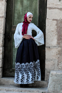 Black & White Ball Gown Skirt Look
