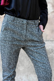 Geometric-Pattern Fashion Pants