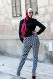 Circled-Pattern Fashion Pants