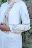 Elegant Fancy Summer Shirt with Floral Lace and Embroidery