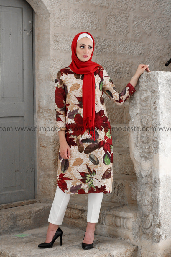 Red Leaves Spring and Summer Tunic