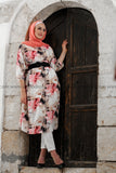Light Multicolored Floral Long Tunic