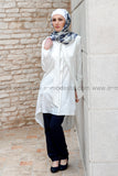 Long summer shirt with ribbon - E-Modesta