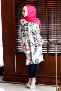 Printed Long Tunic - Off White