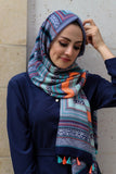 Hijab Scarf with Geometric Print