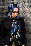 Hijab Scarf with Boho Ethnic Floral Print - E-Modesta
