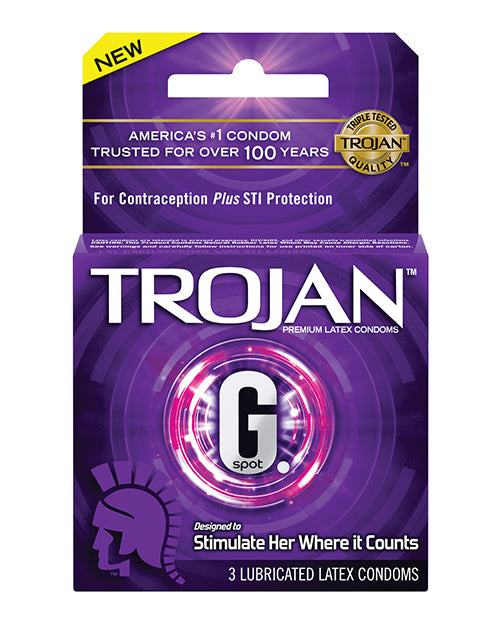Trojan G Spot Stimulate Her Where It Counts - Box Of 3