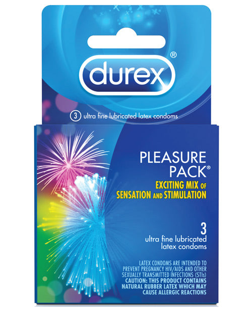 Durex Condom Pleasure Pack - Box Of 3