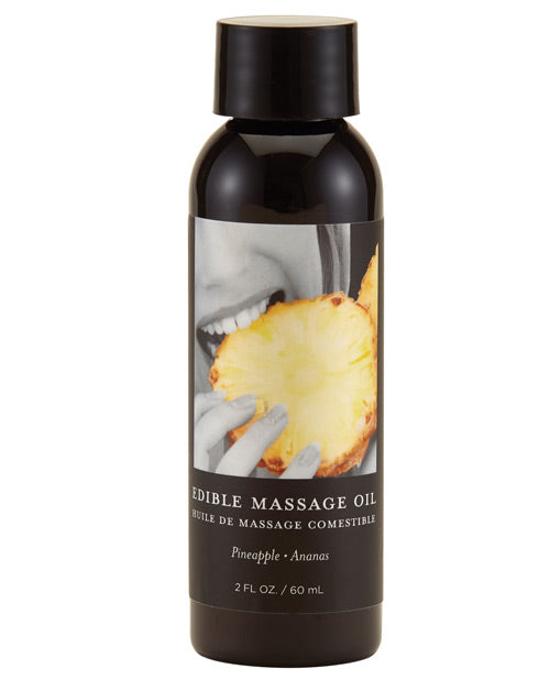 Earthly Body Edible Massage Oil - 2 Oz Pineapple