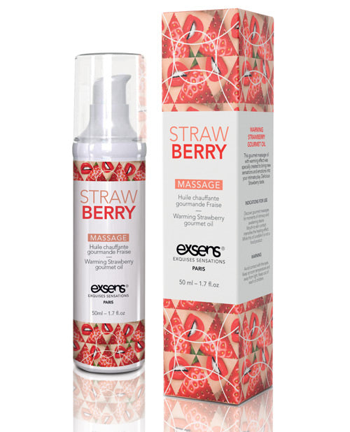 Exsens Of Paris Warming Massage Oil - Strawberry