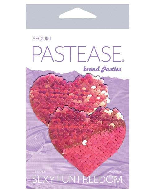 Pastease Color Changing Flip Sequins Heart - Pink O-s