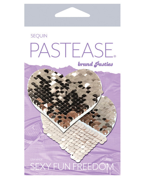 Pastease Color Changing Flip Sequins Heart - Rose Gold O-s