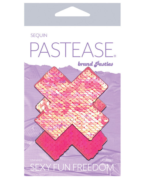 Pastease Color Changing Flip Sequins Cross - Pink O-s