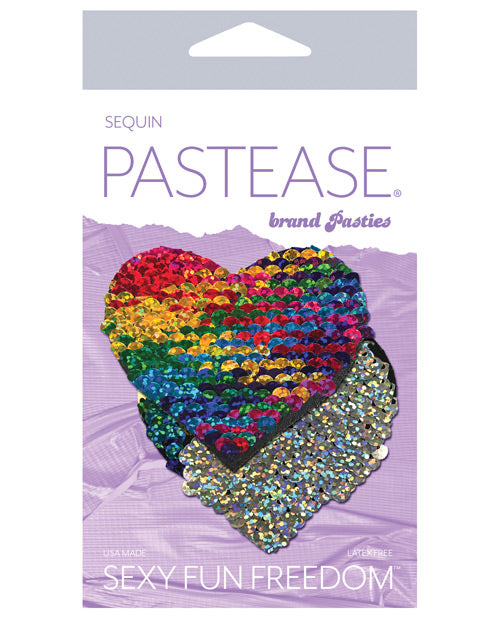 Pastease Color Changing Flip Sequins Heart - Rainbow O-s