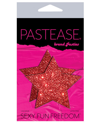 Pastease Glitter Star - Red O-s