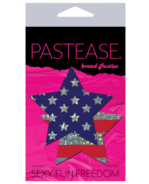 Pastease Glitter Patriotic Star - Red-blue O-s