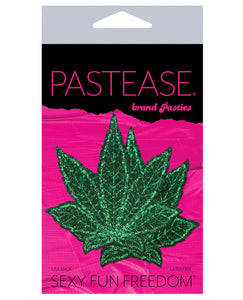 Pastease Glitter Marijuana Leafs - Green O-s