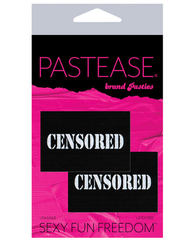 Pastease Censored Pastie - Black-white O-s