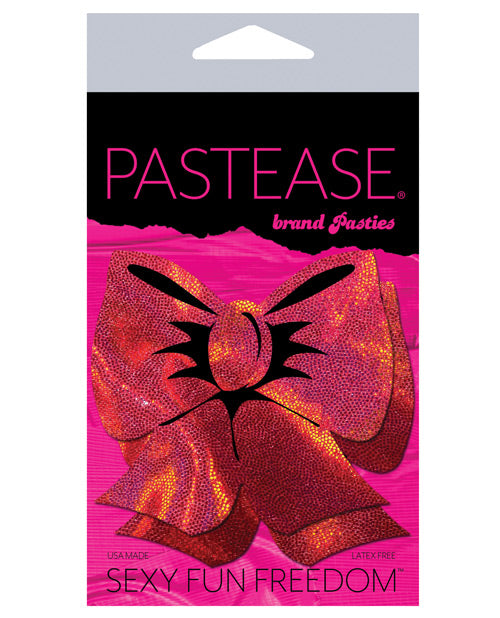 Pastease Hologram Bow - Red O-s