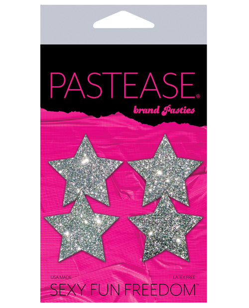 Pastease Petites Glitter Star - Silver O-s Pack Of 2