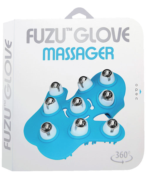 Fuzu Glove Massager - Neon Blue