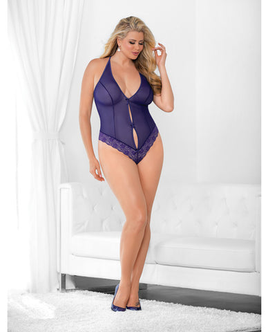 Cage Back Teddy Purple Qn