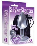 The 9's The Silver Starter Bejeweled Heart Stainless Steel Plug - Violet