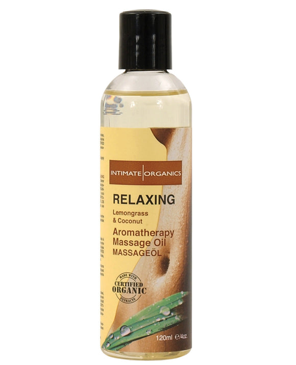 Intimate Earth Relaxing Massage Oil - 120 Ml Coconut & Lemongrass