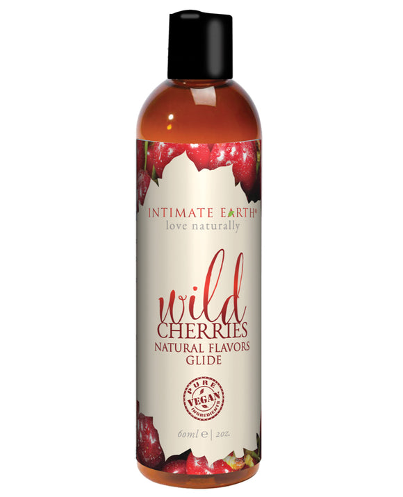 Intimate Earth Natural Flavors Glide - 60 Ml Wild Cherries