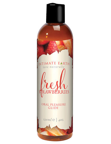 Intimate Earth Natural Flavors Glide - 120 Ml Fresh Strawberries