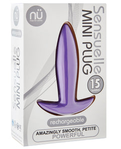 Sensuelle Mini Butt Plug - Purple