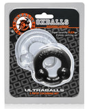 Oxballs Ultraballs Cock Rings - Black-clear Pack Of 2