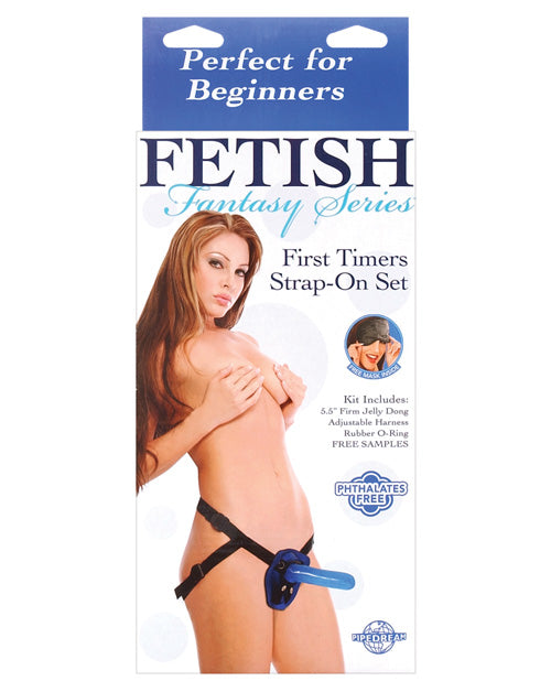 Fetish Fantasy Series First Timers Strap-on Set - Blue