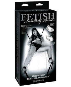 Fetish Fantasy Limited Edition Wraparound Mattress Restraints - Black