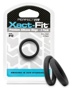 Perfect Fit Xact Fit #10 - Black Pack Of 2