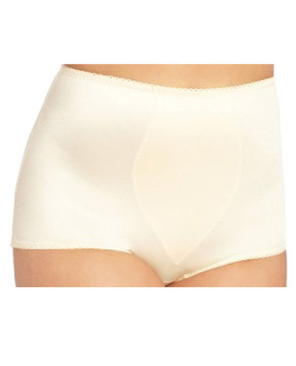 Rago Shapewear Rear Shaper Panty Brief Light Shaping W-removable Contour Pads Beige Sm