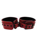 Rouge Leather Wrist Cuffs - Burgundy