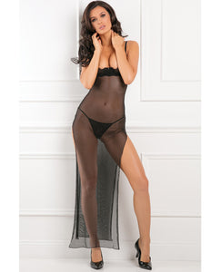 Rene Rofe All Out There Open Cup Dress Black S-m